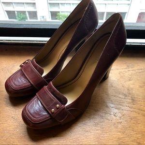 EUC Nine West Jenny stacked heel